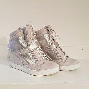 Jennifer Lopez wedge sneakers